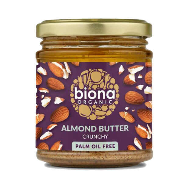 Biona Organic Almond Butter Crunchy (170 g)