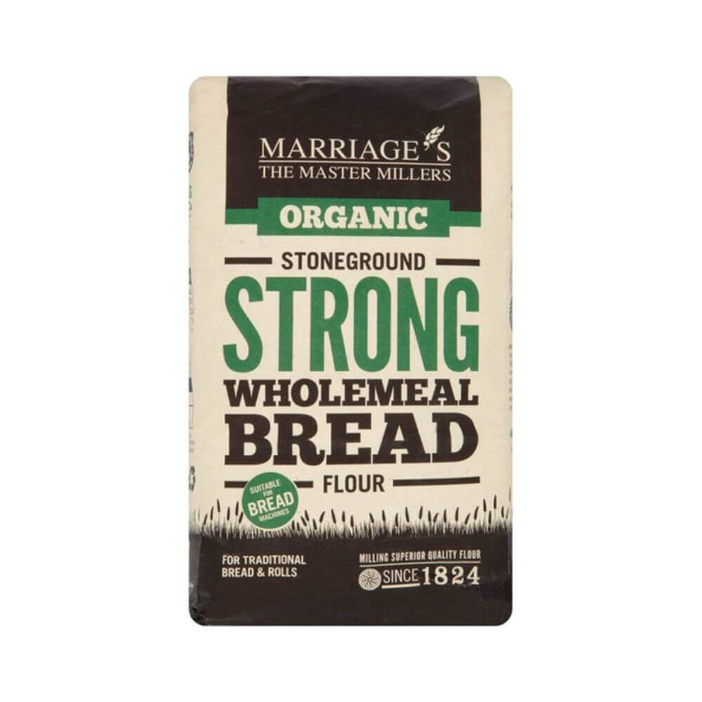 WH Marriage's Stoneground Strong Wholemeal Bread Flour (1 kg)